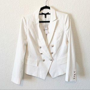 White House Black Market Ivory NWT Tailored Blazer